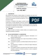 Bases La Voz Net Para Publicar