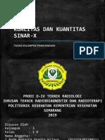 PPT Fisrad Kualitas dan Kuantitas Sinar-X Kelompok 3 Kelas 1D 2019.pptx