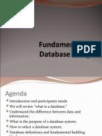 Fundamentals of Database Design