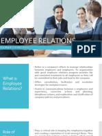 Employee Relations and Emplyee Discipline