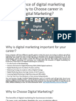 Importance of Digital Marketing and Why to Choose Career in Digital Marketing