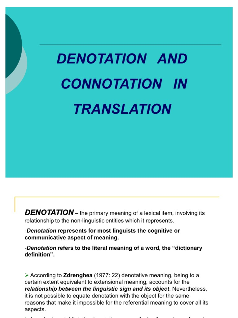 connotation and denotation test pdf
