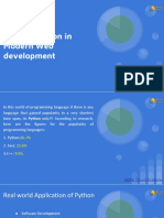 A Brief Look at What is Role of Python in Modern Web Development by Digital Dnyan Academy Pune