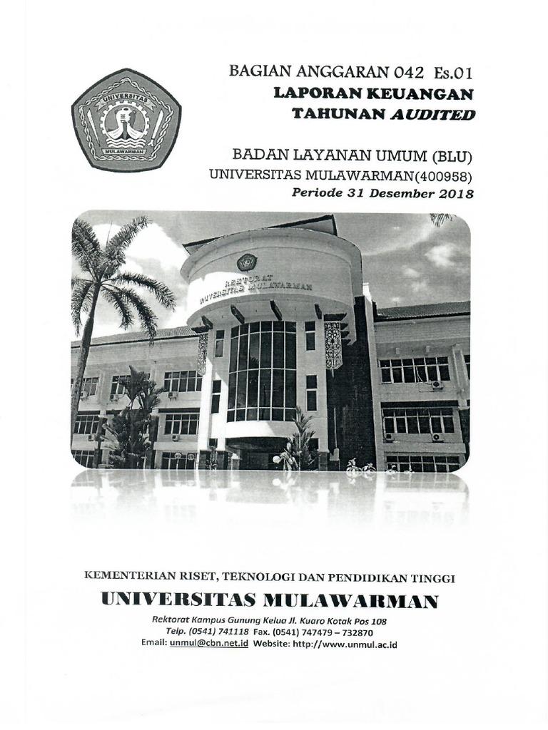 Laporan Keuangan Audited Ta 2018 Ba 042 01 Pdf