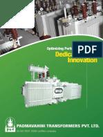 Transformer Manufacturers Brochure - Padmavahini