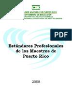 estandares profesionales de los maestros de puerto rico