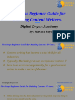 Five Steps Beginner Guide for Budding Content Writers.