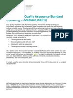 Sample Data Quality Assurance Standard Operating Procedures (1)