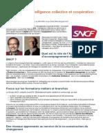 Management, Intelligence Collective Et Coopération _ Le Cas SNCF