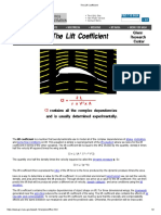 The Lift Coefficient