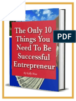 10 Things You Need to Be Successful Entrepreneur