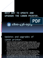 Best Way to Update and Upgrade the Canon