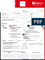 Application form college