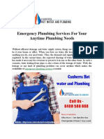 Emergency Plumbing Services For Your Anytime Plumbing Needs