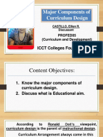 Major Components of Curriculum Design