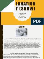 Explanation Text (SNOW)