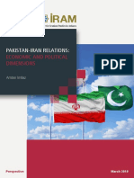 Pakistan Iran Relations Economic and Political Dimensions