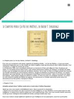 Le Chapitre Perdu (La Vie Des Maîtres, De Baird T