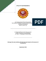 GE2 Title Proposal Format
