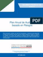 Plan Anual Auditoría Basada en Riesgos