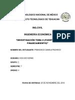 Investigación Tema 4 (Fuentes de Financiamiento)