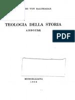 LIBRO Teologia Della Storia (H.U.von BALTHASAR)