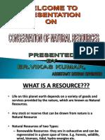 Conservation of Natural Resources Er.rajesh Vashisht