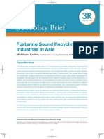 Fostering Sound Recycling Industries in Asia