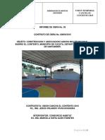 Informe de Obra No. 05 Cancha El Contento