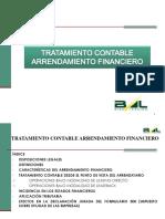 Tratamiento tributario contable al arrendamiento financiero