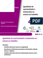 Apresentação -Igualdade de Oportunidades e Tratamento no Acesso ao Trabalho, Emprego e Formação Profissional