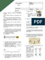 Examen Bimestral Periodo I Física 11
