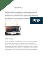 Types of Printers