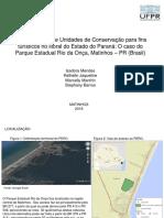 A subutilização de Unidades de Conservação para fins turísticos no litoral do Estado do Paraná