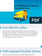 Advantages of Hiring Cash in Transit Services