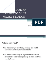 Chit Fund as an Islamic Tool in Micro