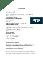 Historia Clinica Fransisco