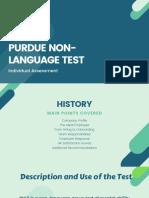 Purdue Non Language Test