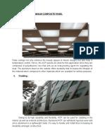 Application of Aluminium Composite Panel