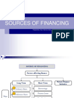 Sources of Financing Part 1