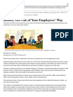 Bosses, Get Out of Your Employees' Way - WSJ