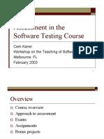Assessment Testing Slides