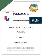Reglamento Tecnico Alma Clase 3 2019