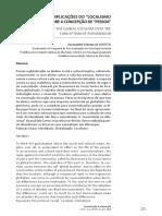As Implicações Do Localismo Globalizado - Artigo Alexandre Pereira de Mattos