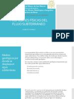 4. Propiedades Físicas Del Flujo Subterráneo