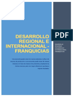 Desarrollo Regional e Internacional - Franquicia