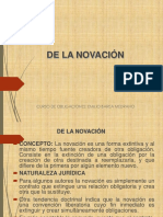 19 Curso de Obligaciones Extinción de Las Obligaciones Novación(1)