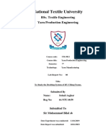 L-8 to Study the Drafting System of RY-5 Ring Frame