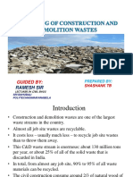SHASHANK Construction Demolition Waste Recycling Ppt