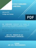 El Proceso Sumario Laboral